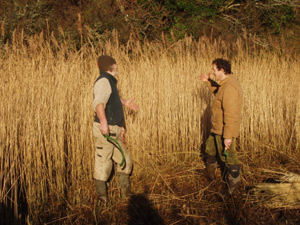 Monty Don chatting about Water Reed