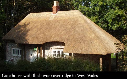 Thatched Coatwork and traditional wrap over ridge.
