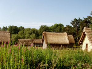 Thatched huts at west stow
